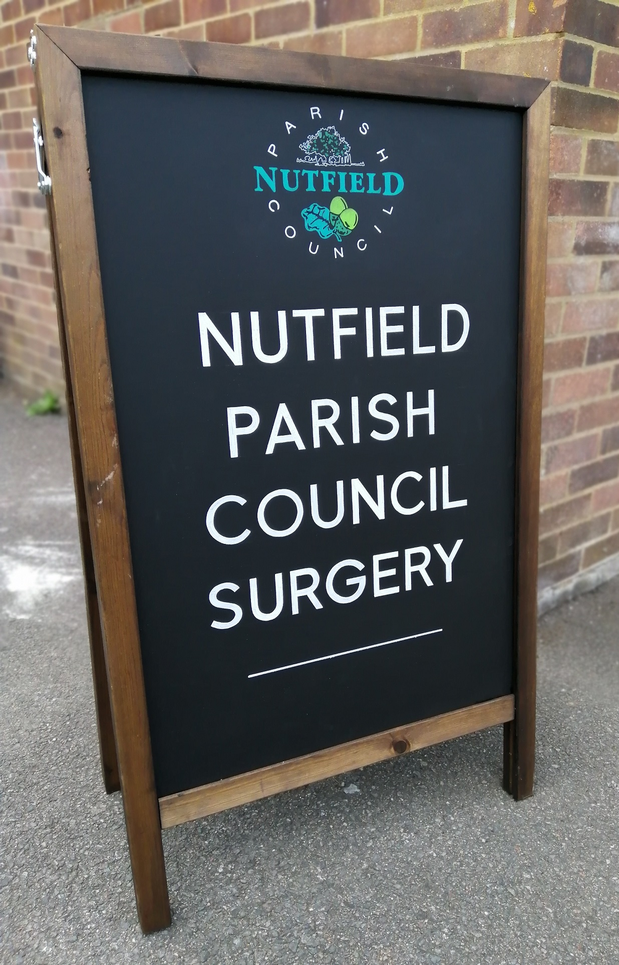 Photo of Nutfield Council Parish Surgery sign