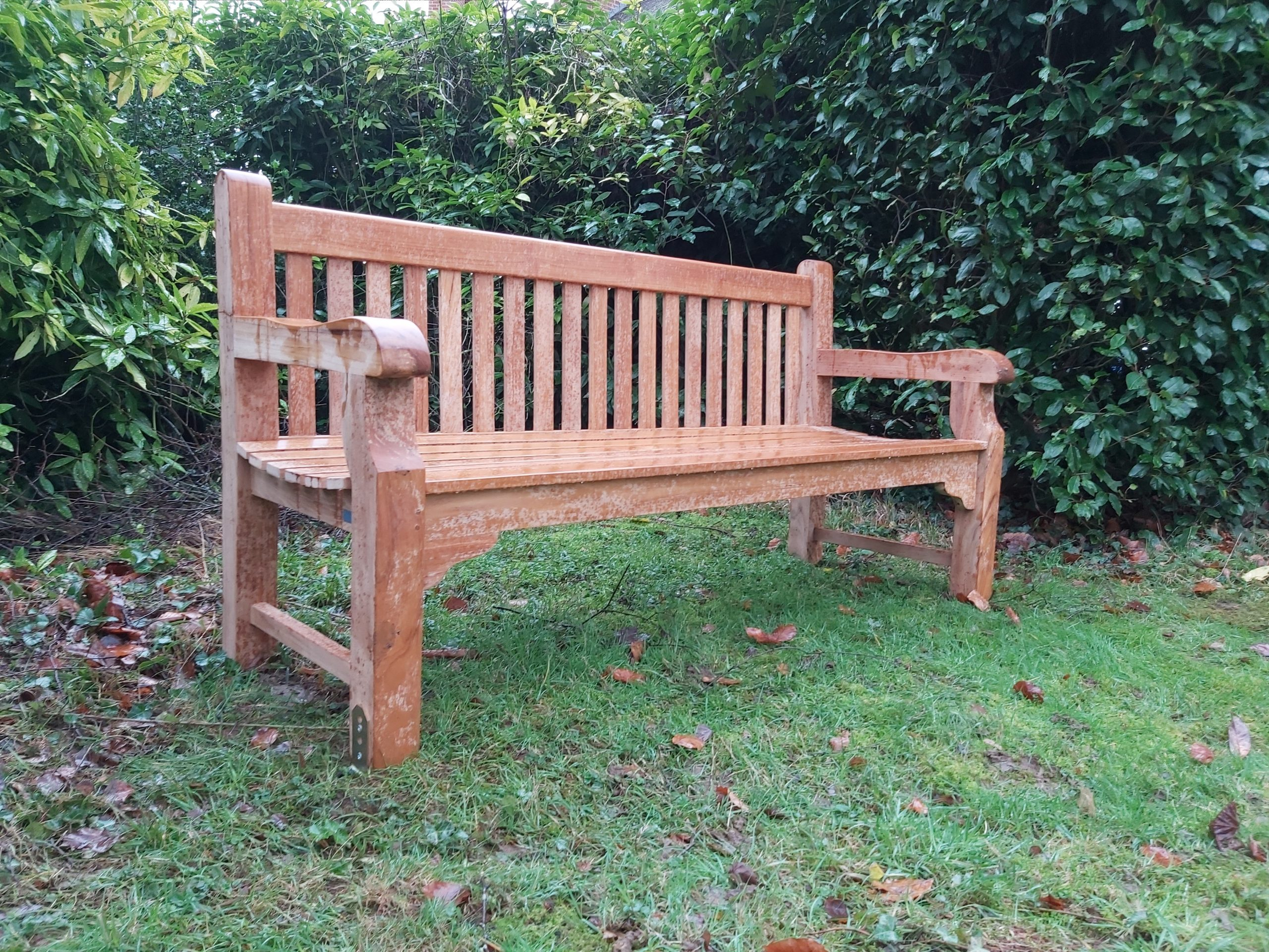 Photo of bench used for bench plaques