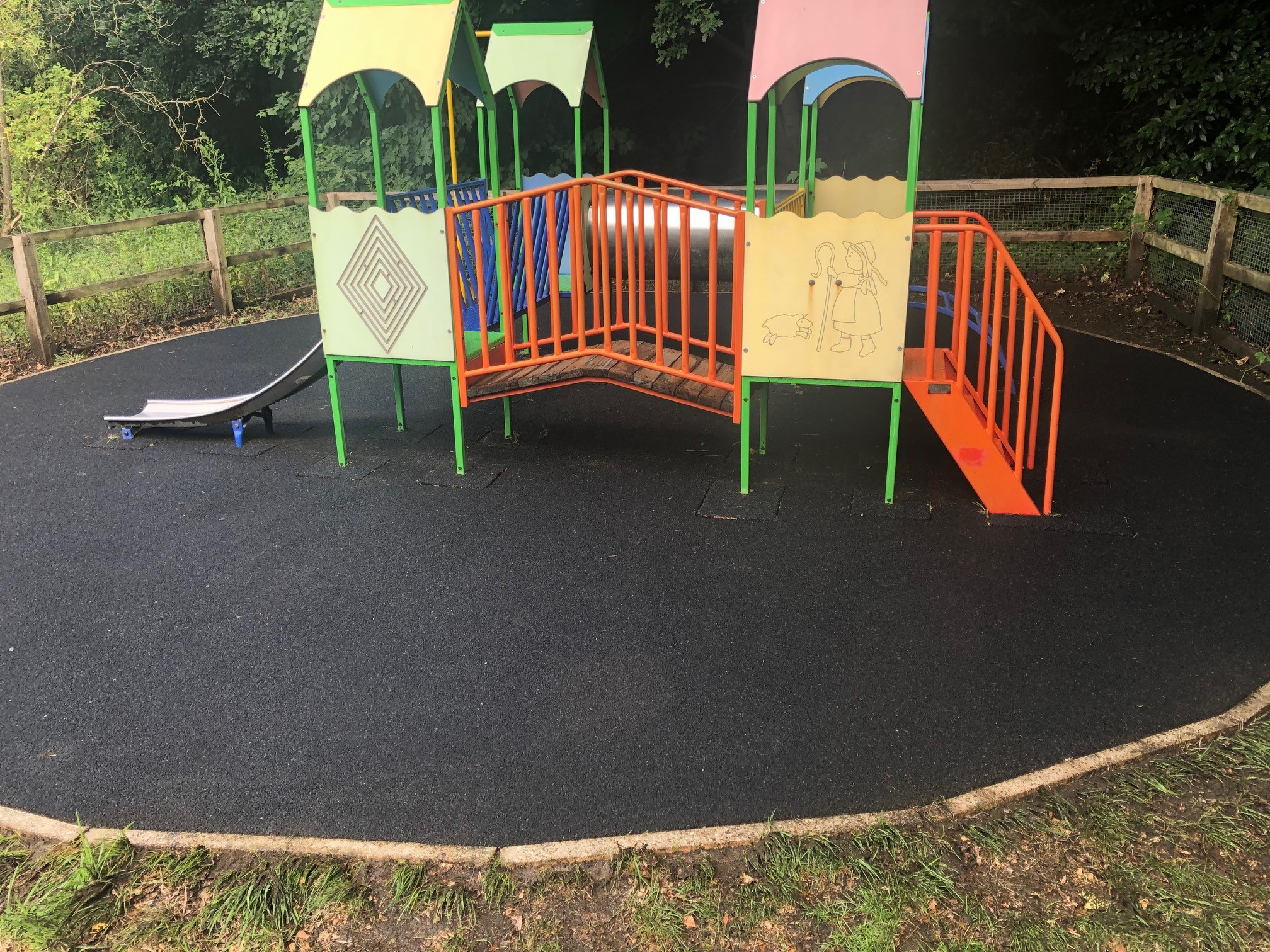 Cleaned Memorial Hall playground
